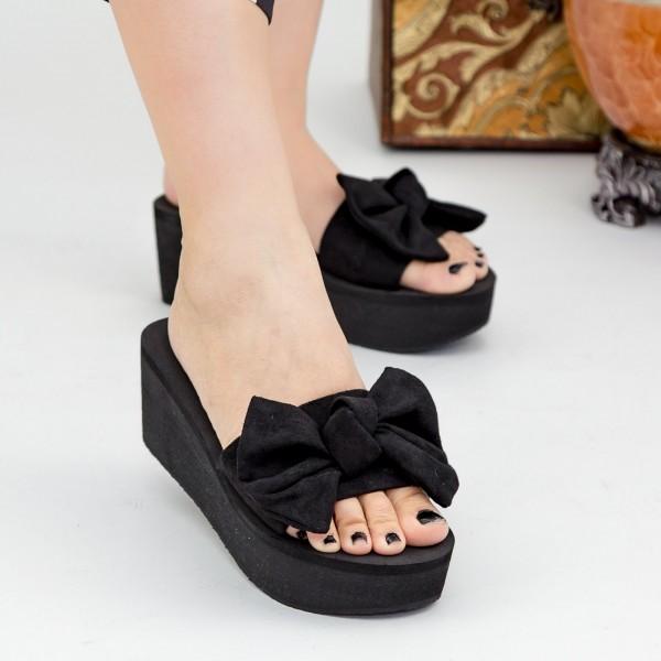 Papuci Dama cu Platforma NX2 Black Mei
