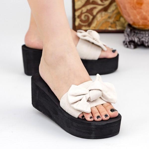 Papuci Dama cu Platforma NX2 White Mei