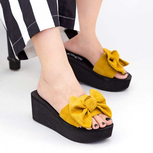 Papuci Dama cu Platforma NX2 Khaki Mei