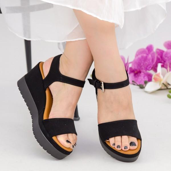Sandale Dama cu Platforma YL7 Black Mei