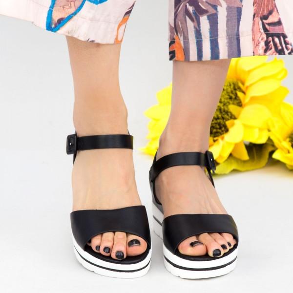 Sandale Dama cu Platforma WT9 Black Mei