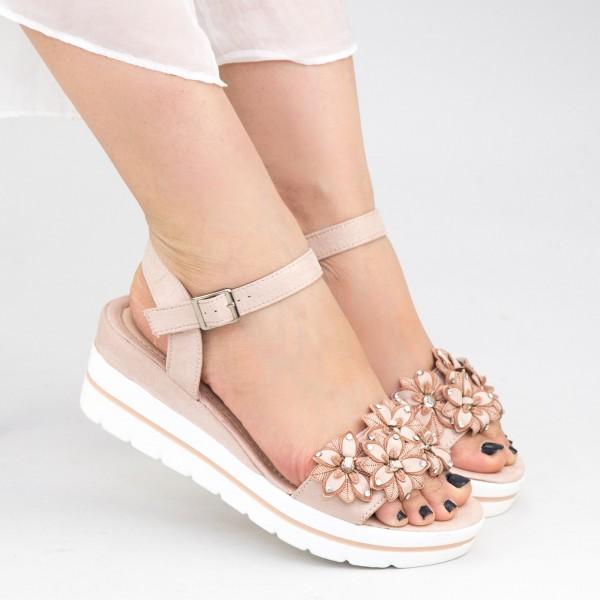 Sandale Dama cu Platforma WT10 Nude Mei