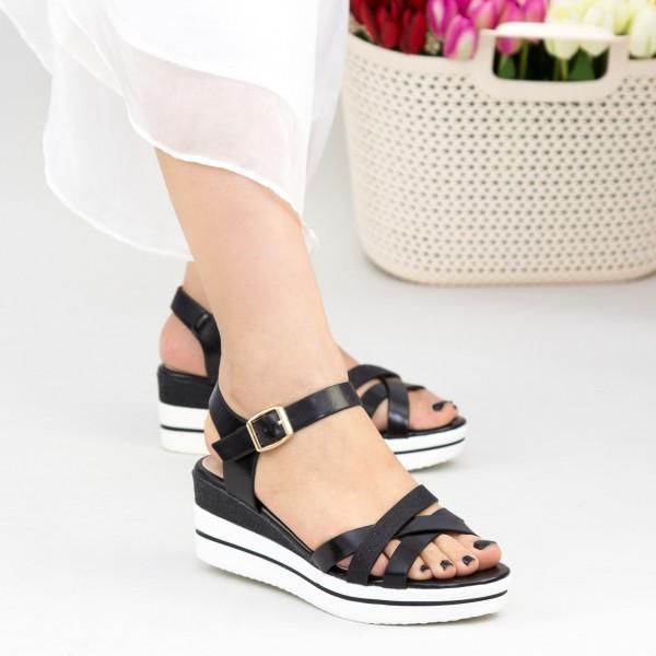 Sandale Dama cu Platforma WT8 SD Black Mei