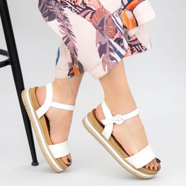 Sandale Dama WT006 White Mei
