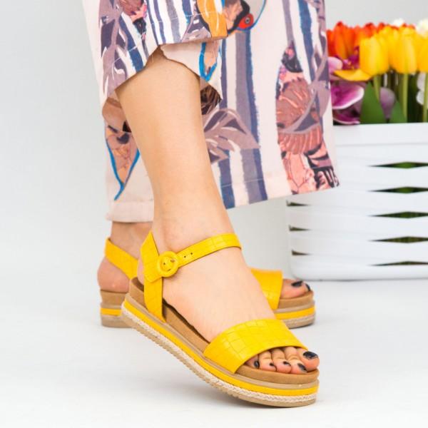 Sandale Dama WT006 Yellow Mei