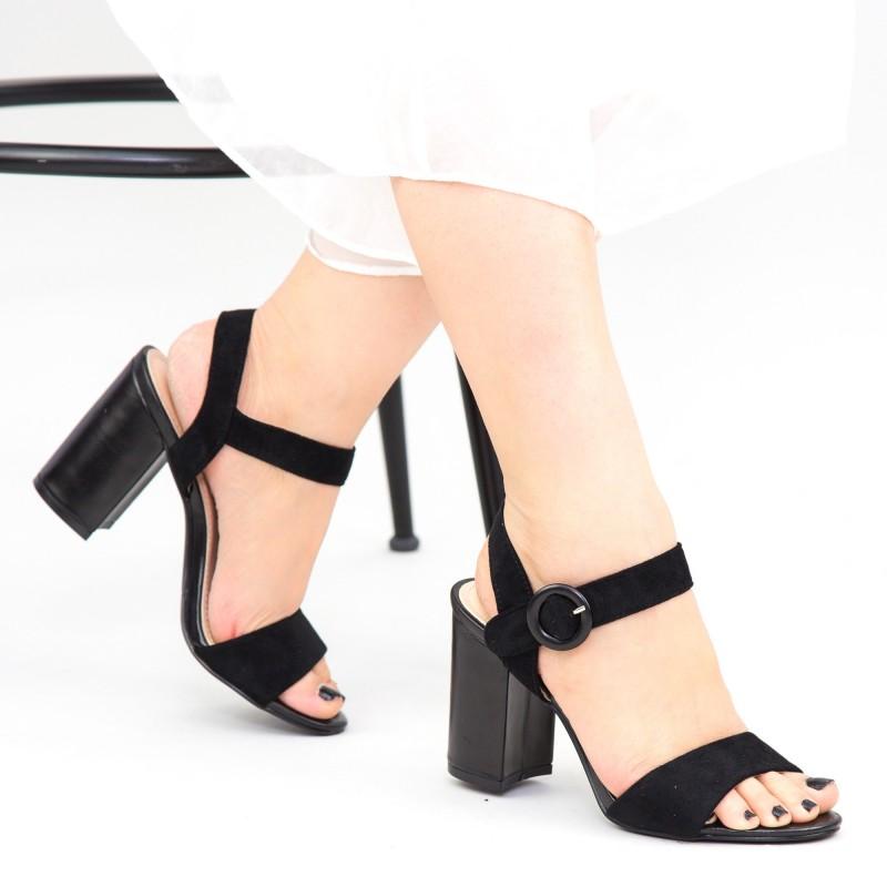 Sandale Dama cu Toc YBS76 Black Mei
