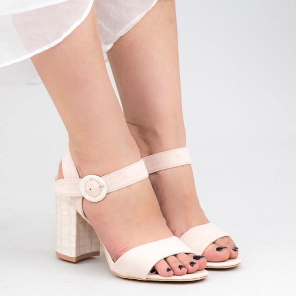 Sandale Dama cu Toc YBS76 Beige Mei
