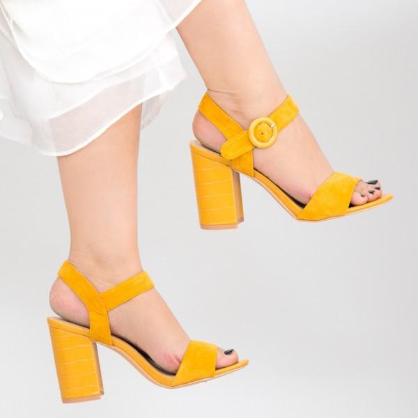 Sandale Dama cu Toc YBS76 Yellow Mei