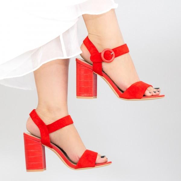 Sandale Dama cu Toc YBS76 Red Mei