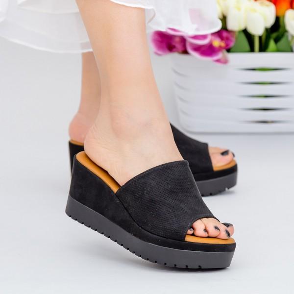 Papuci Dama cu Platforma YL6 Black Mei