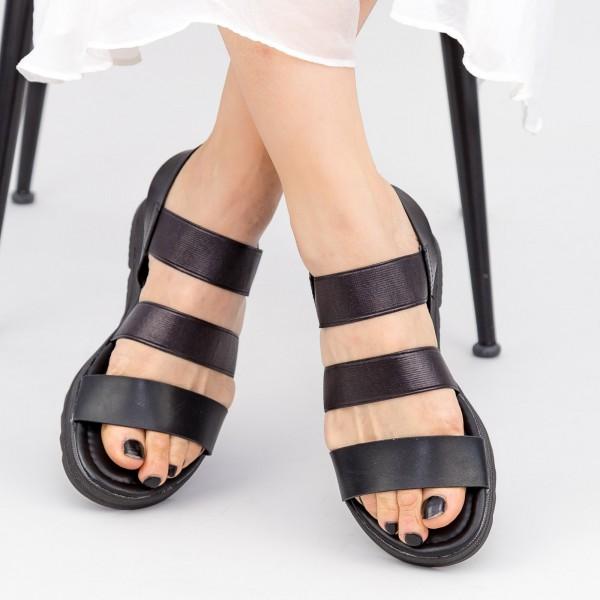 Sandale Dama cu Talpa Joasa WS186 Black Mei