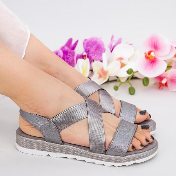 Sandale Dama cu Talpa Joasa WS185 Pewter Mei