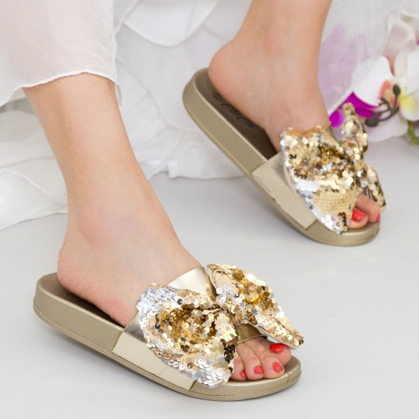 Papuci Dama WS120 Gold Mei