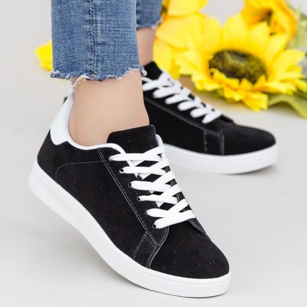 Pantofi Sport Dama YKQ117 Black-white Mei
