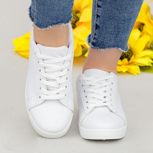 Pantofi Sport Dama YKQ117 White-black Mei