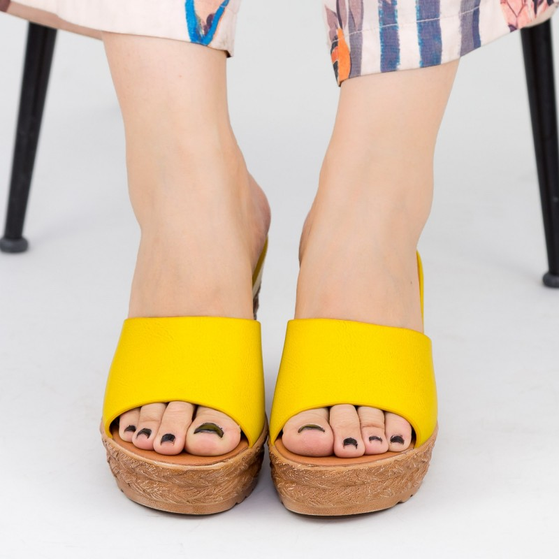 Sandale Dama cu Platforma GY9 Yellow Mei