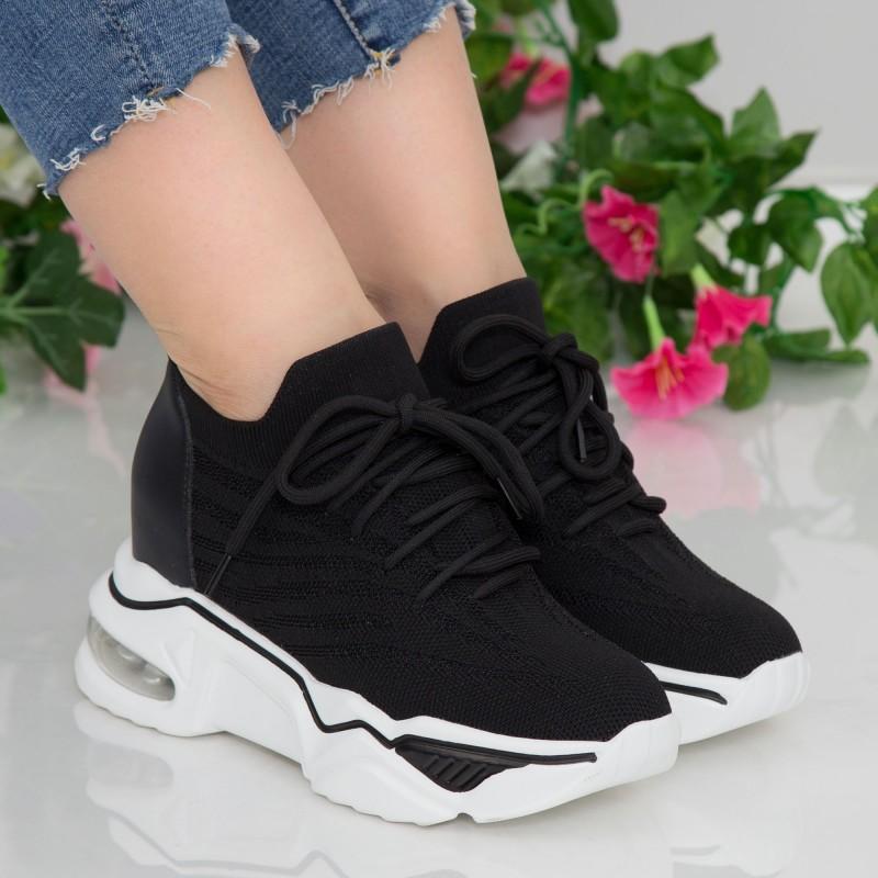 Pantofi Sport Dama cu Platforma CJL22 Black Mei