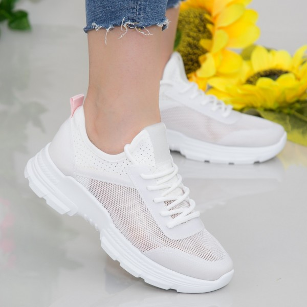Pantofi Sport Dama YKQ217 White Mei