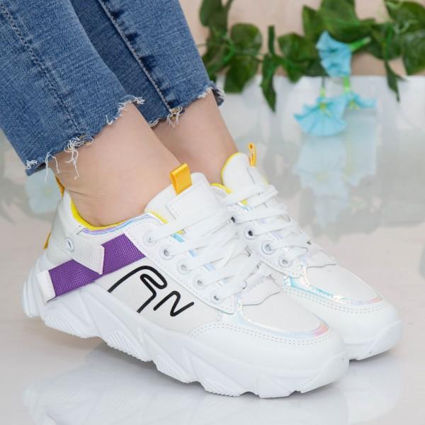 Pantofi Sport Dama HMM18 White Mei