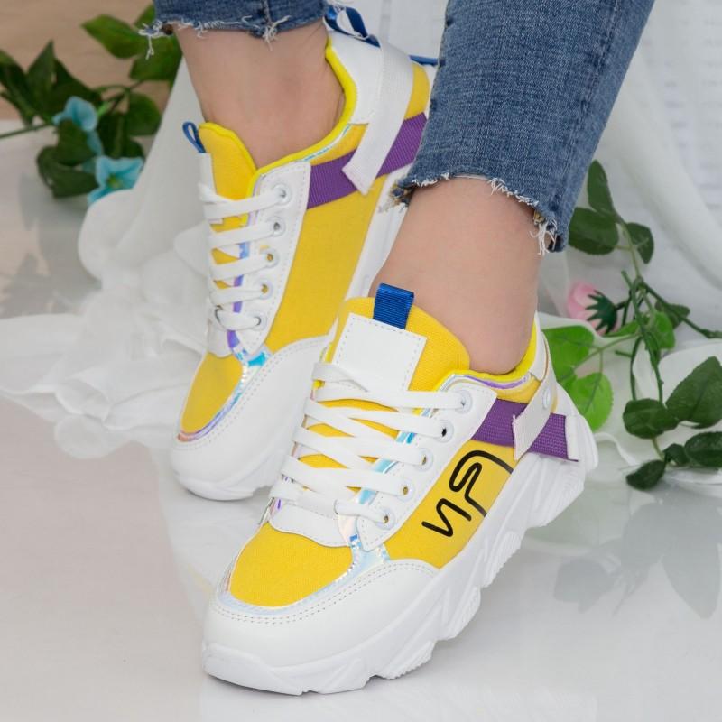 Pantofi Sport Dama HMM18 Yellow Mei