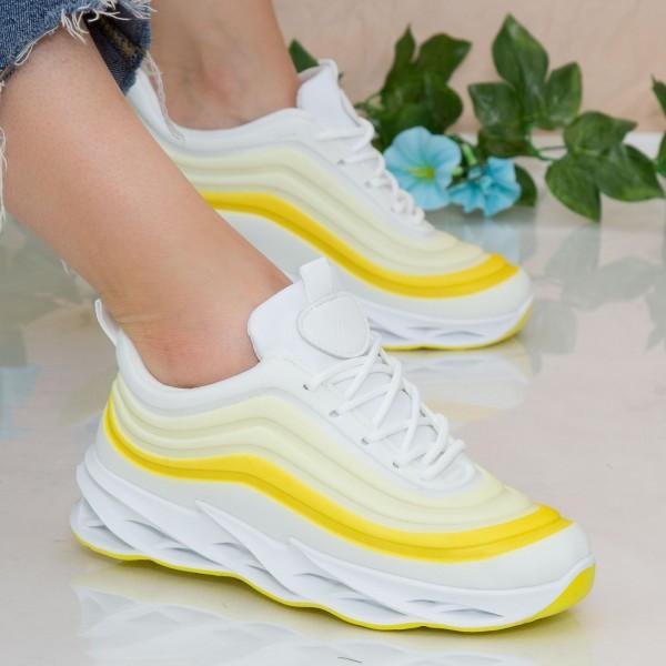 Pantofi Sport Dama cu Platforma LGDL3 Yellow Mei
