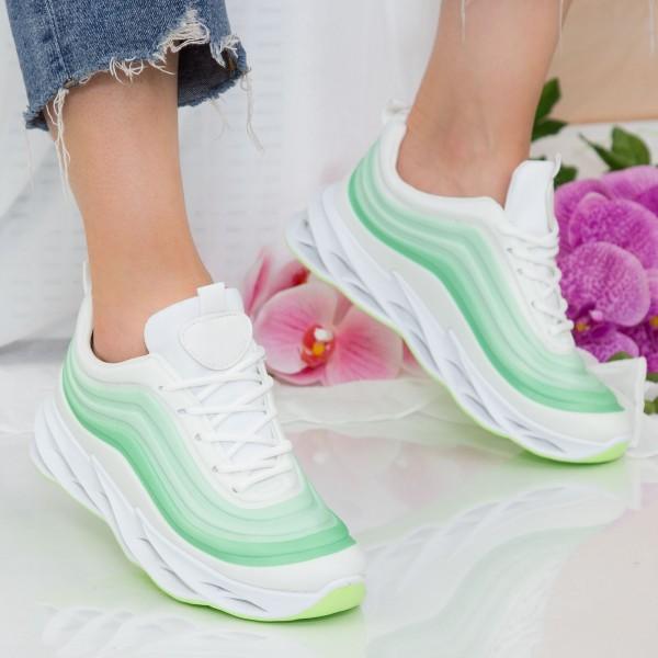 Pantofi Sport Dama cu Platforma LGDL3 Green Mei