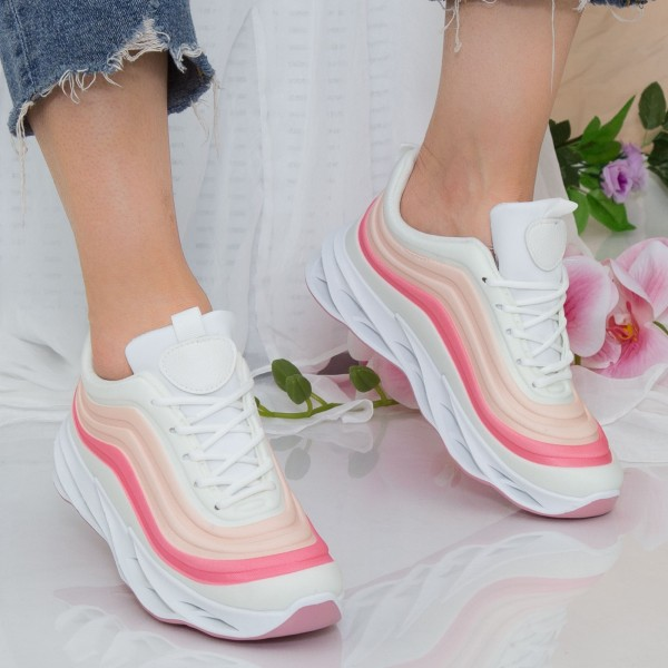 Pantofi Sport Dama cu Platforma LGDL3 Pink Mei