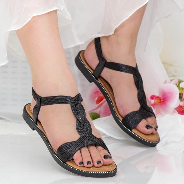 Sandale Dama CZLS3 Black Mei