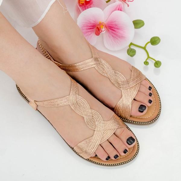 Sandale Dama CZLS3 Champagne Mei