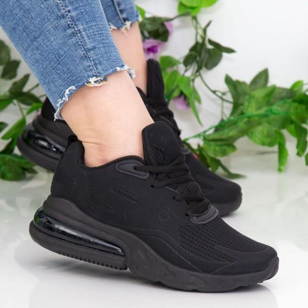 Pantofi Sport Dama cu Platforma GB79 All Black Mei