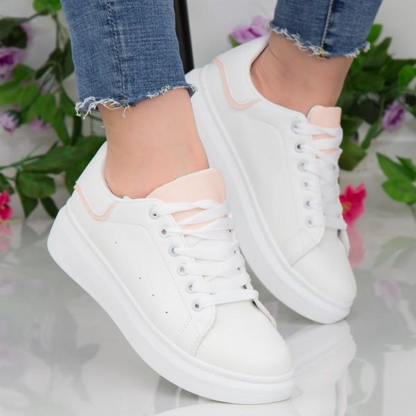 Pantofi Sport Dama YKQ190 White-Pink Mei