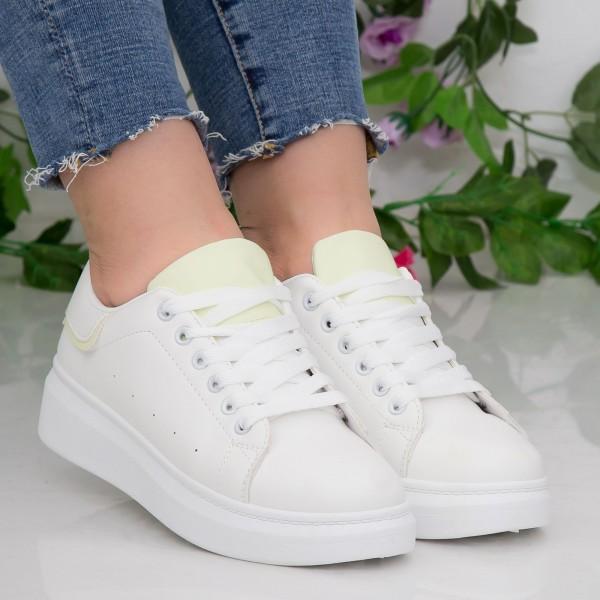 Pantofi Sport Dama YKQ190 White-Green Mei