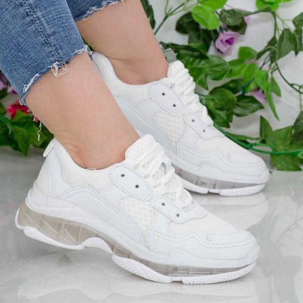 Pantofi Sport Dama YKQ193 White Mei