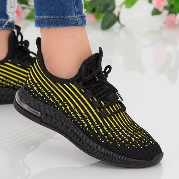 Pantofi Sport Dama LGGH1 Black-Yellow Mei