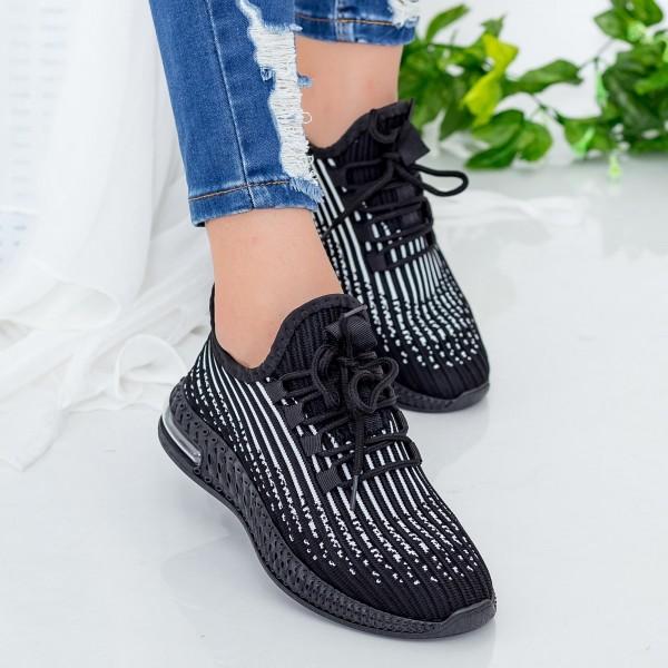 Pantofi Sport Dama LGGH1 Black-White Mei