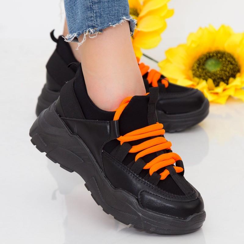 Pantofi Sport Dama cu Platforma NX100 Black Mei
