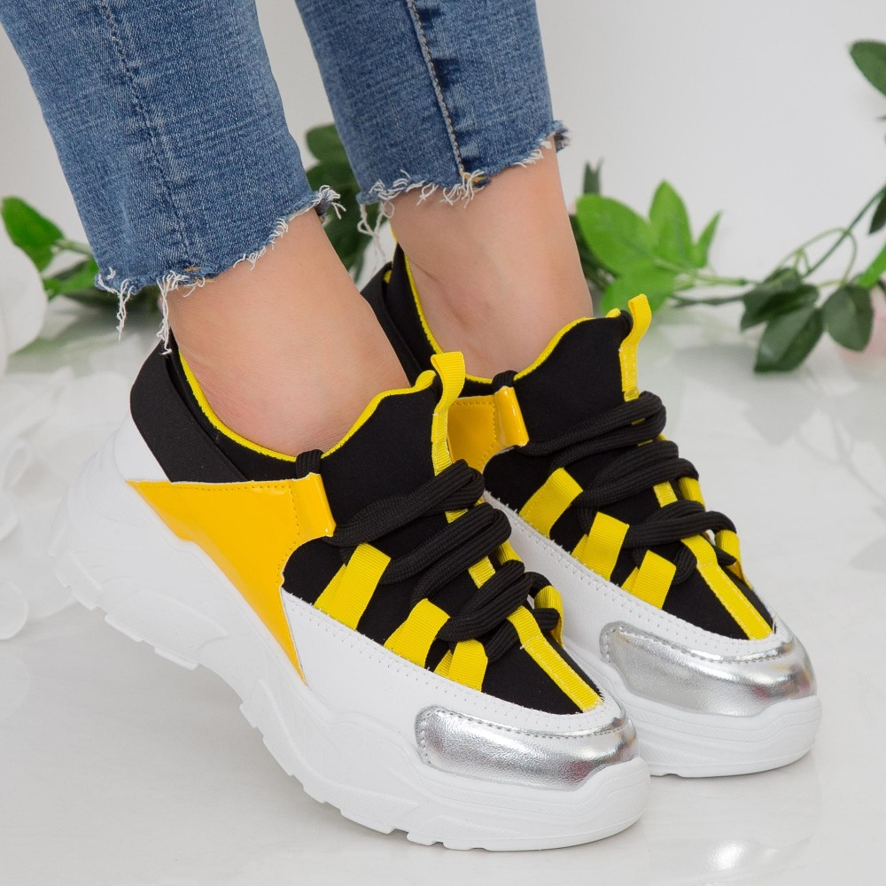 Pantofi Sport Dama cu Platforma NX100 Yellow Mei