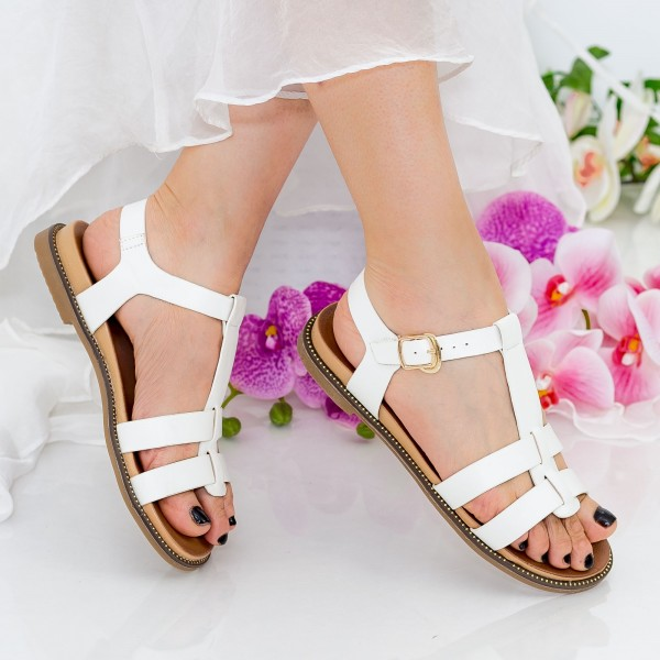 Sandale Dama ZX3 White Mei