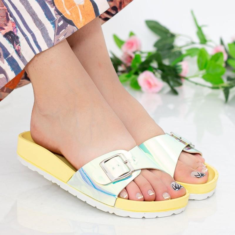 Papuci Dama WS127 Yellow Mei