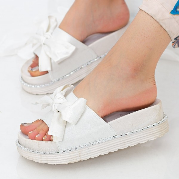 Papuci Dama WS131 White Mei