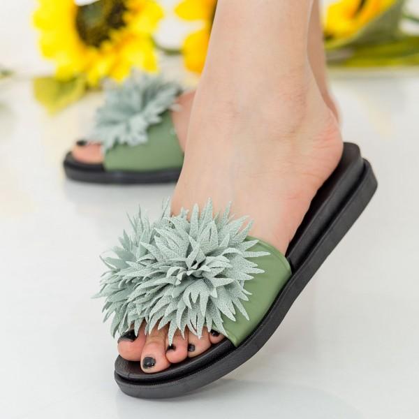 Papuci Dama YH6685 Green Sport Fashion