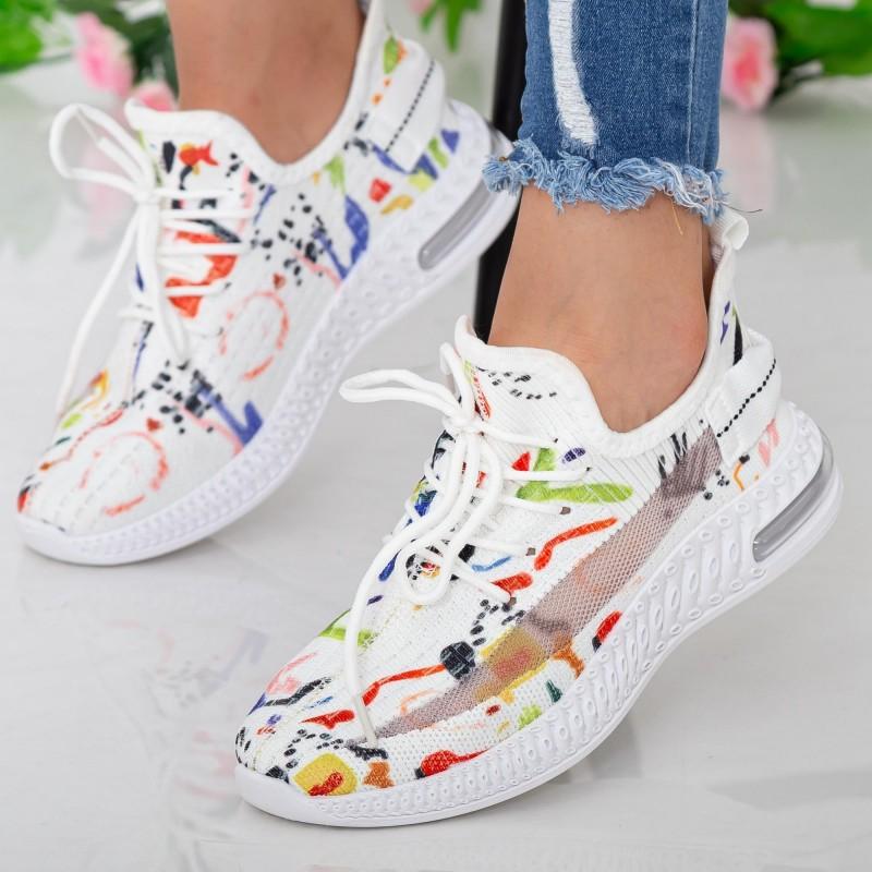 Pantofi Sport Dama LGGH2 White Mei