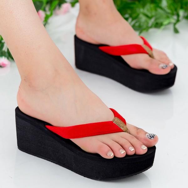 Papuci Dama cu Platforma NX1 Red Mei