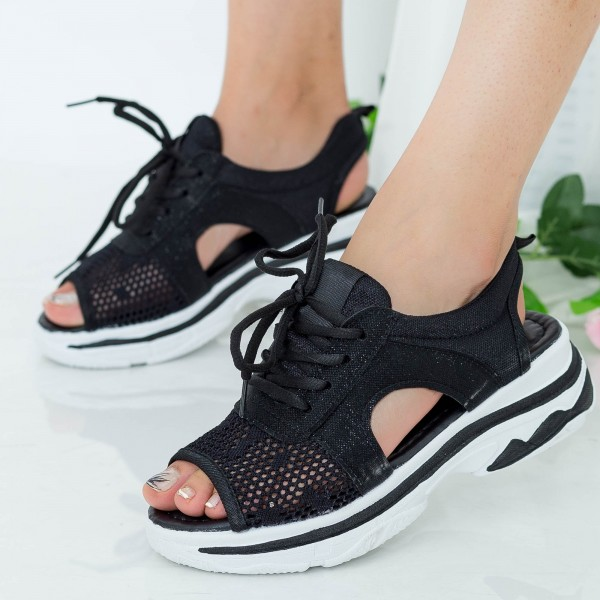 Sandale Dama WLJR1 Black Mei