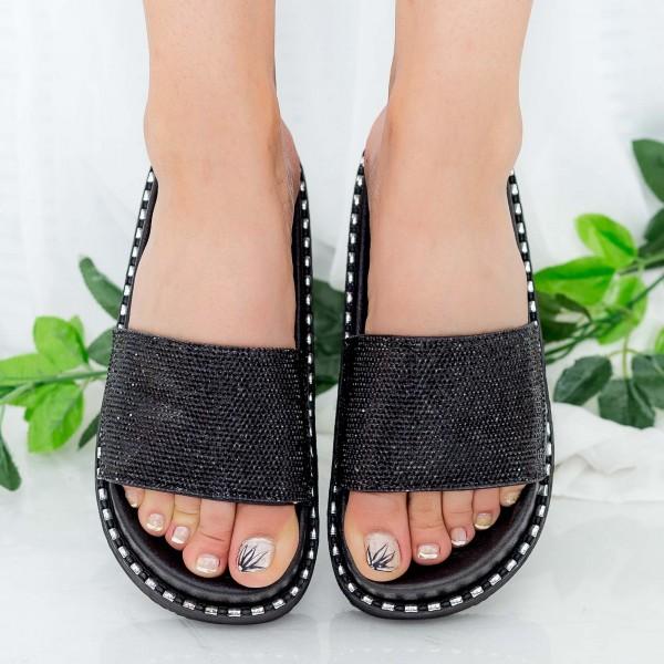 Papuci Dama cu Platforma WS130 Black Mei