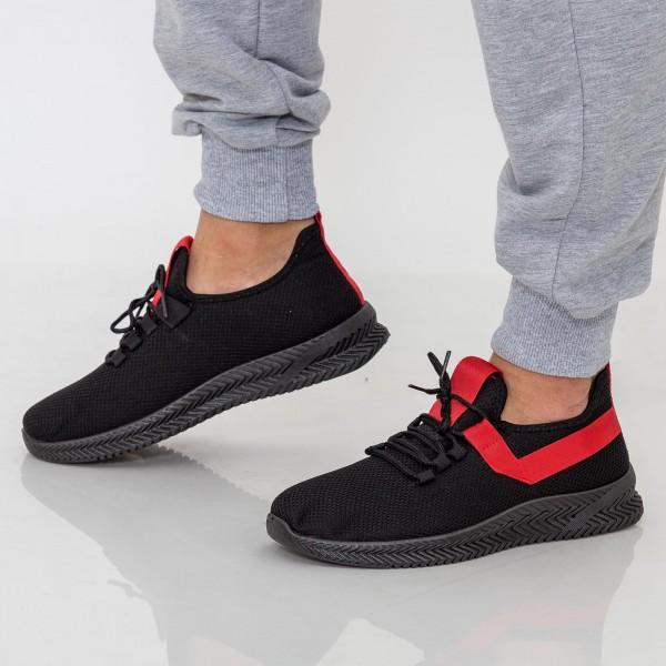 Pantofi Sport Barbati D808 Black-Red Se7en