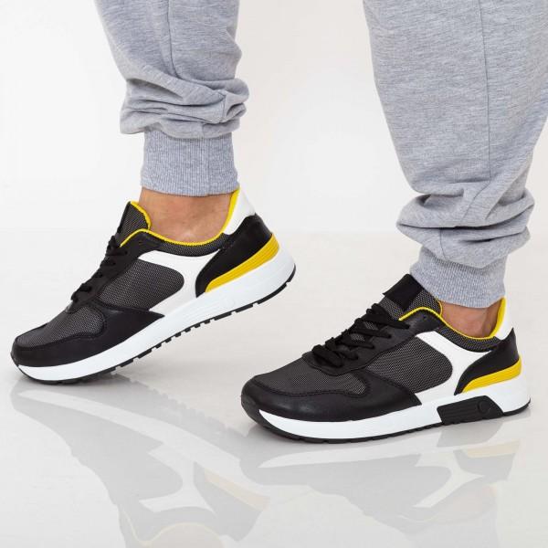 Pantofi Sport Barbati D771 Black Se7en