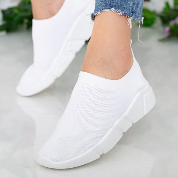 Pantofi Sport Dama J-6 PSD White Se7en