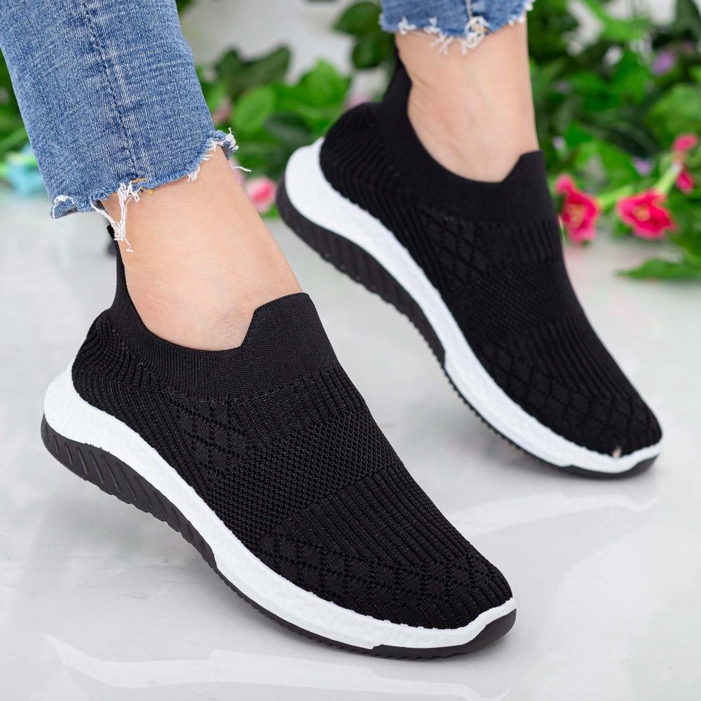 Pantofi Sport Dama 23-8 PSD Black Se7en