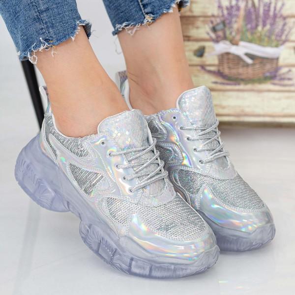 Pantofi Sport Dama X613 Silver Se7en